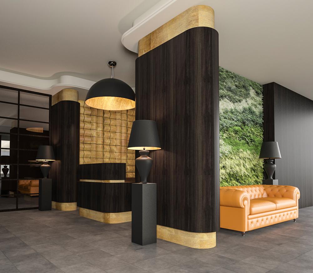 reception-hotel-ingresso-divano-lampada-oro-legno