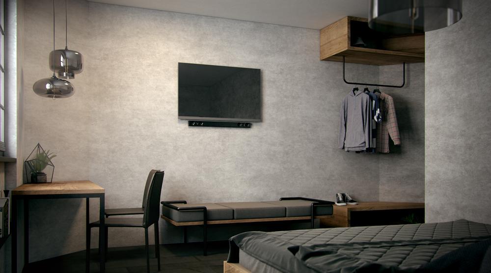 camera-letto-design-legno-metallo