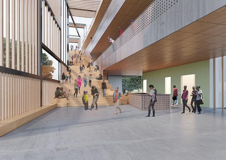 Interni-scalinata-design-scuola